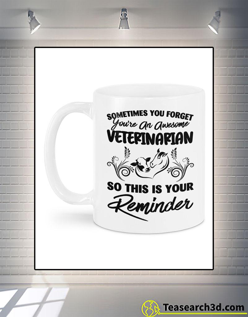 Awesome veterinarian large animals mug back