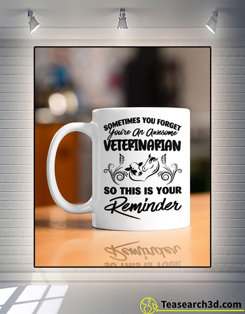 Awesome veterinarian large animals mug front