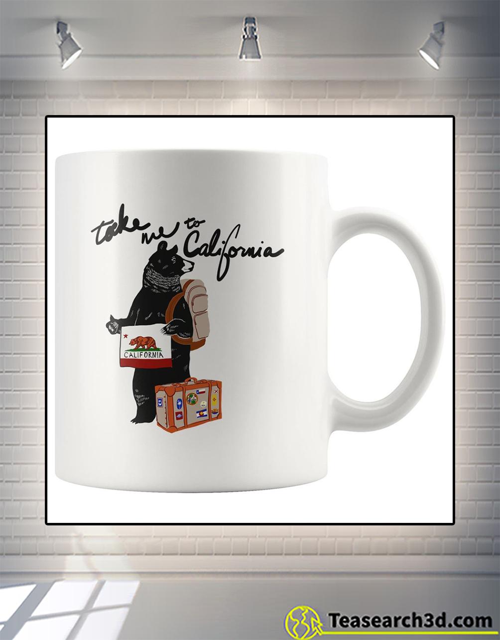Bear take me to california mug