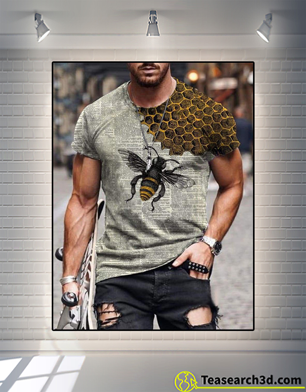 Bee dictionary page 3d all over printed shirt