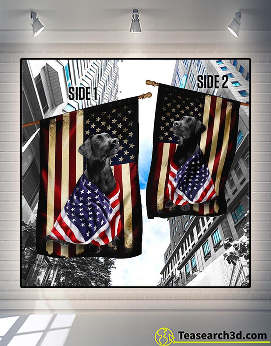 Black labrador retriever american patriot flag 2