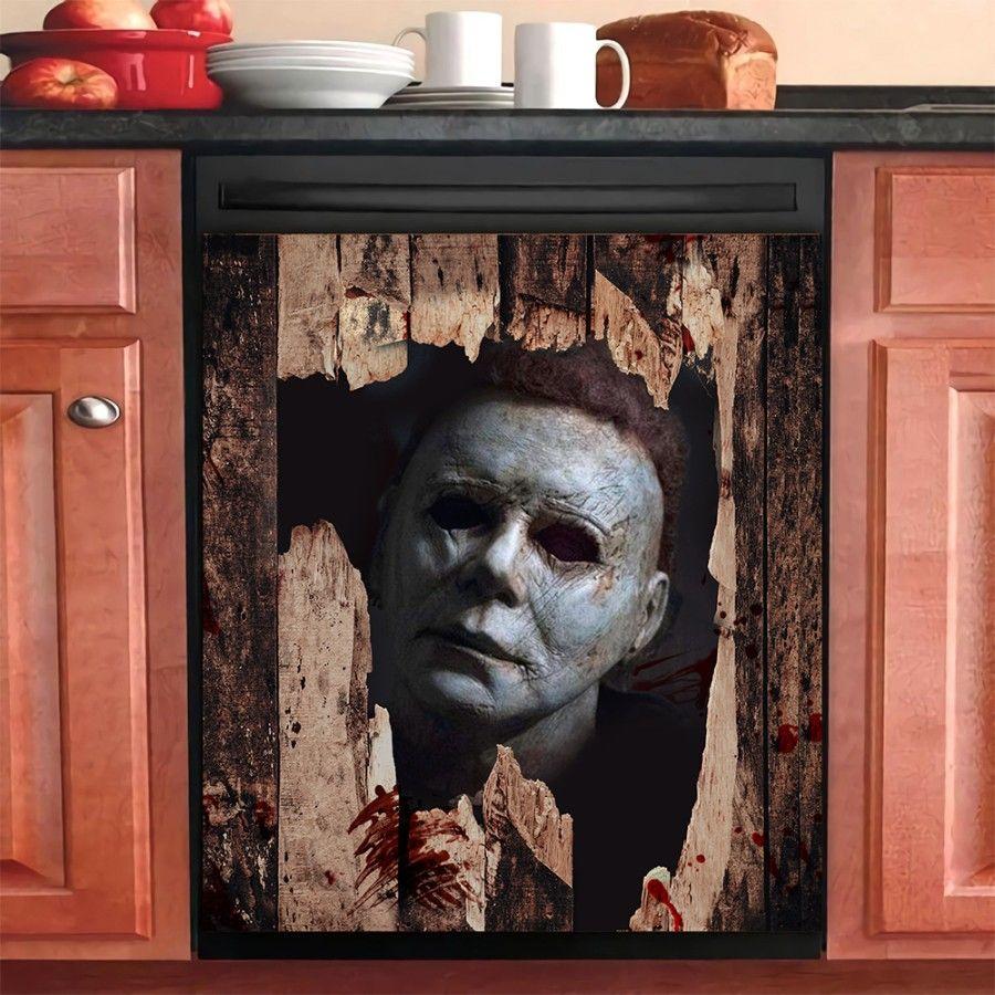Broken grunge wood dishwasher cover
