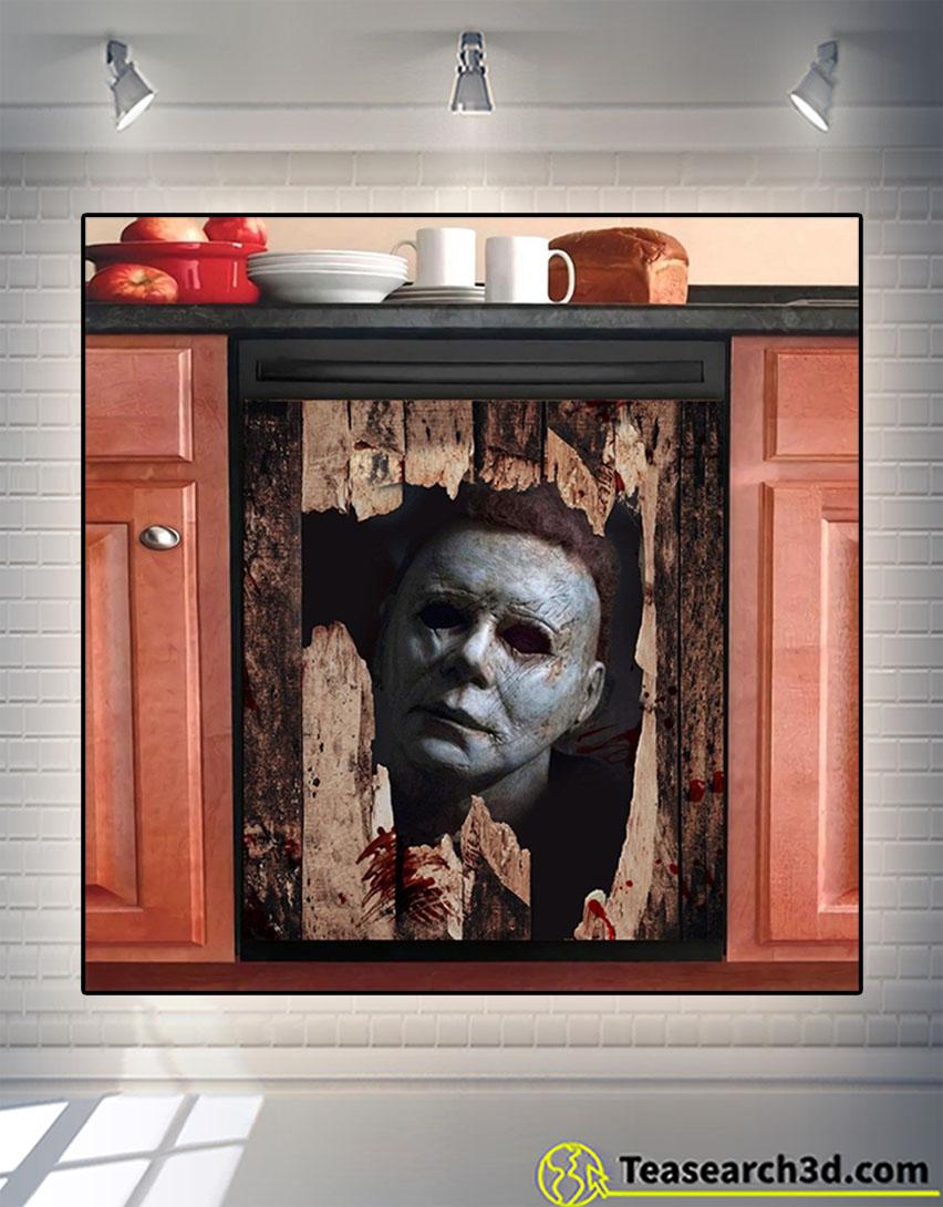 Broken grunge wood dishwasher cover 2