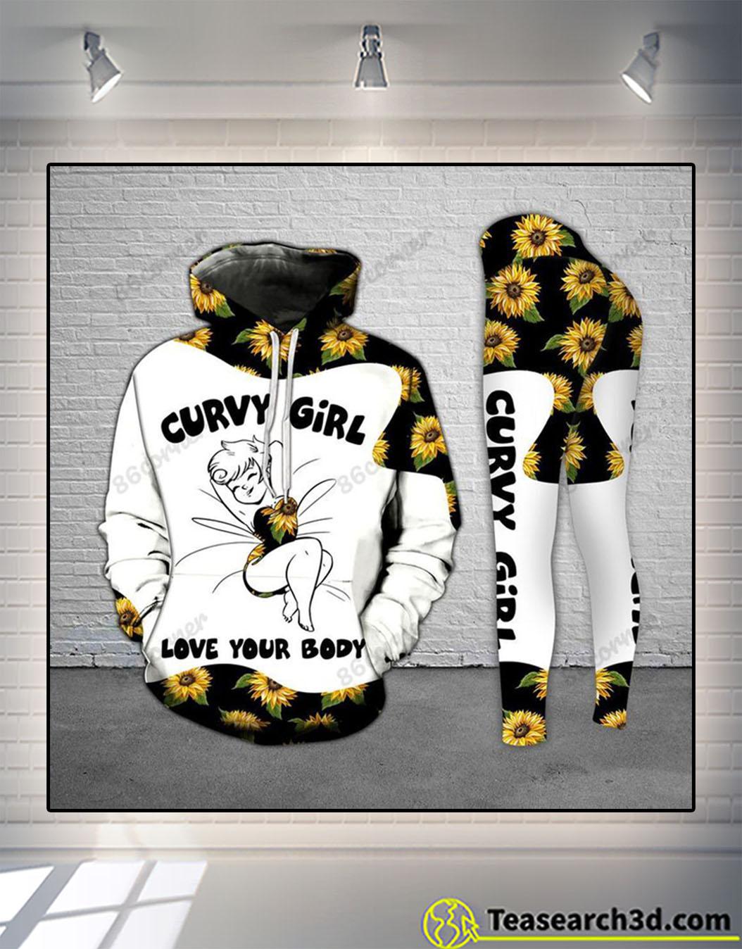 Curvy girl light sunflower legging and hoodie