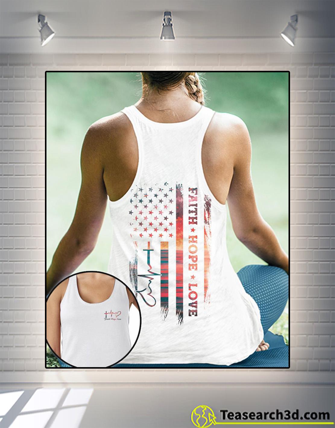 Faith hope love sunset beach 3d all over print hoodie