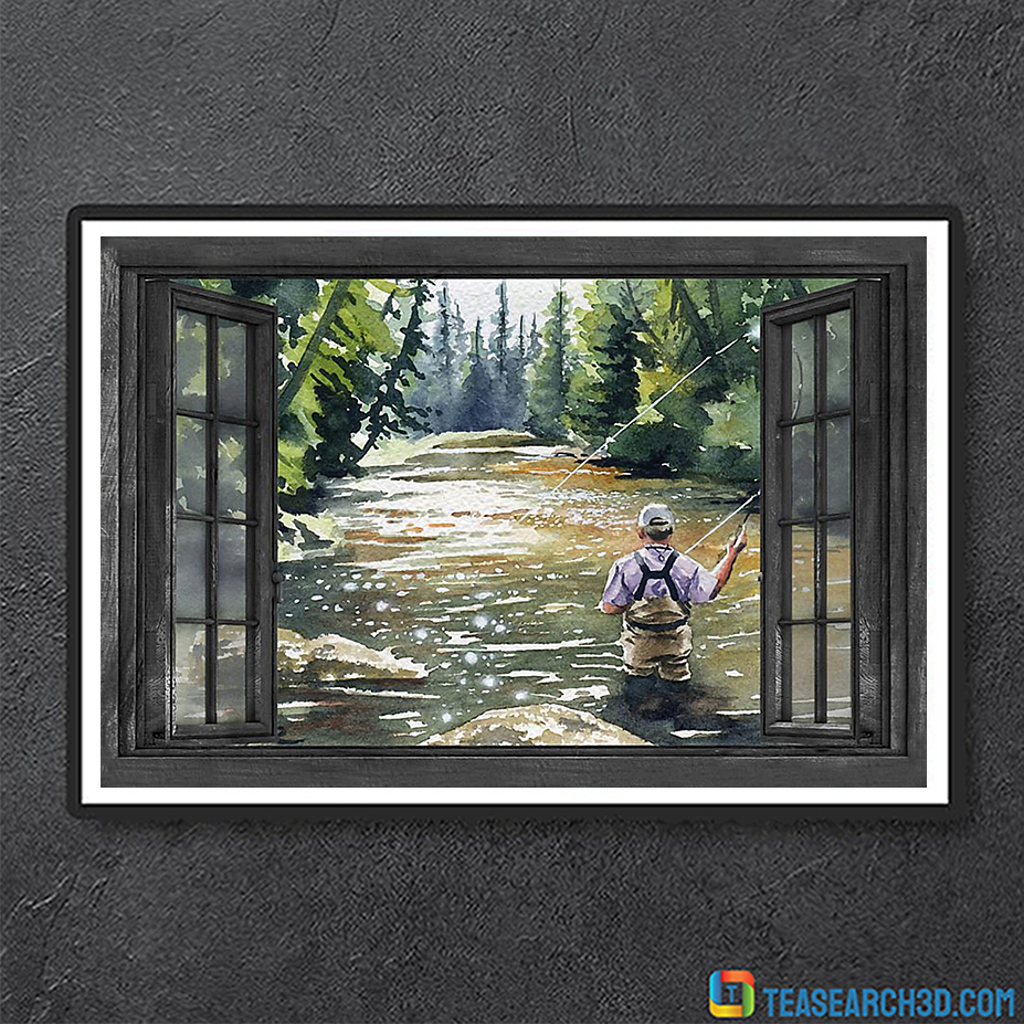 Fishing window poster A2