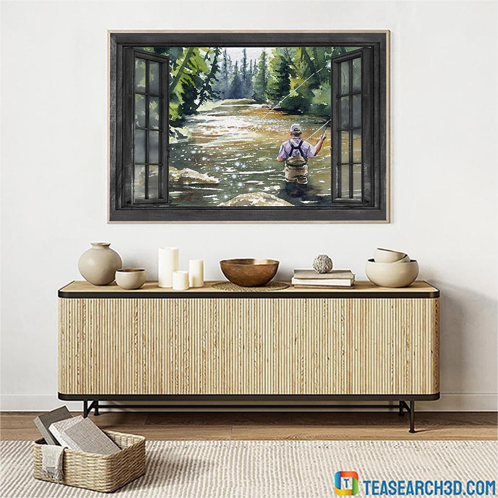 Fishing window poster