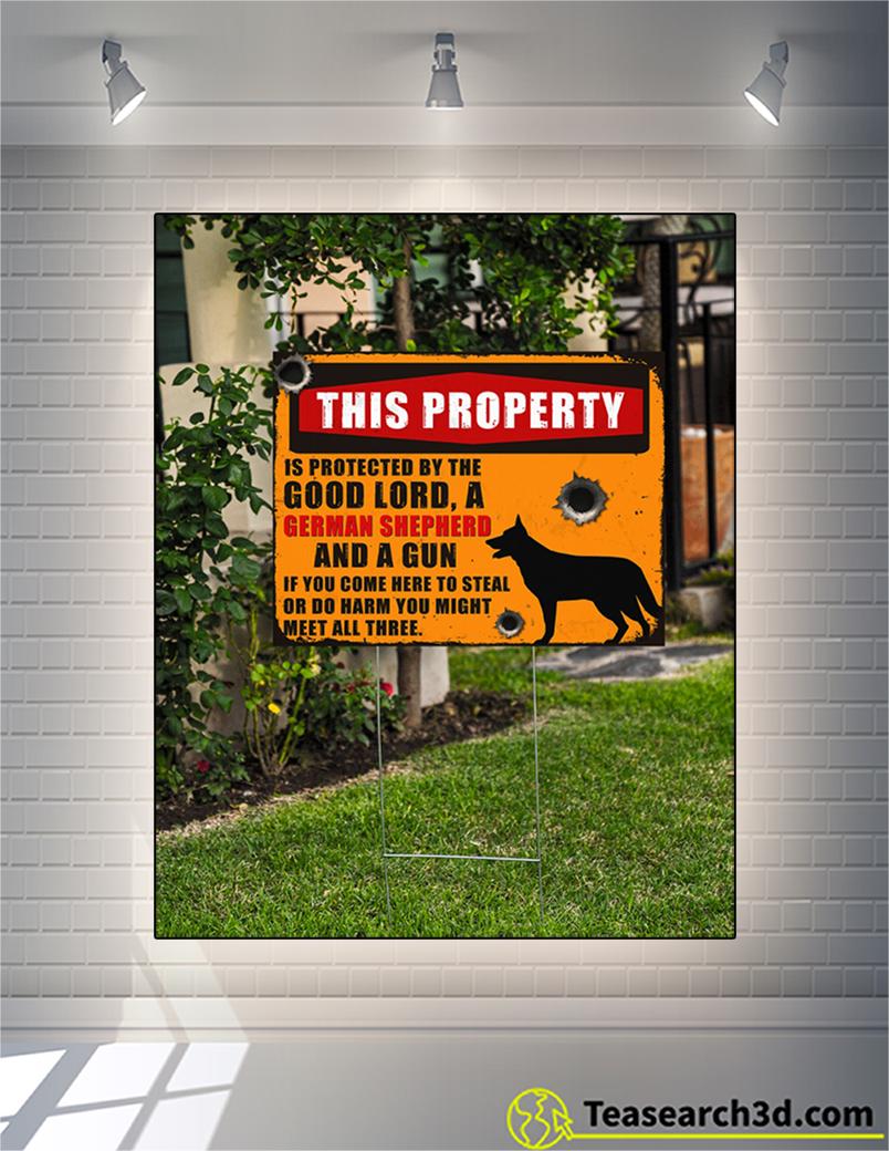 German shepherd this property is protected yard sign 1