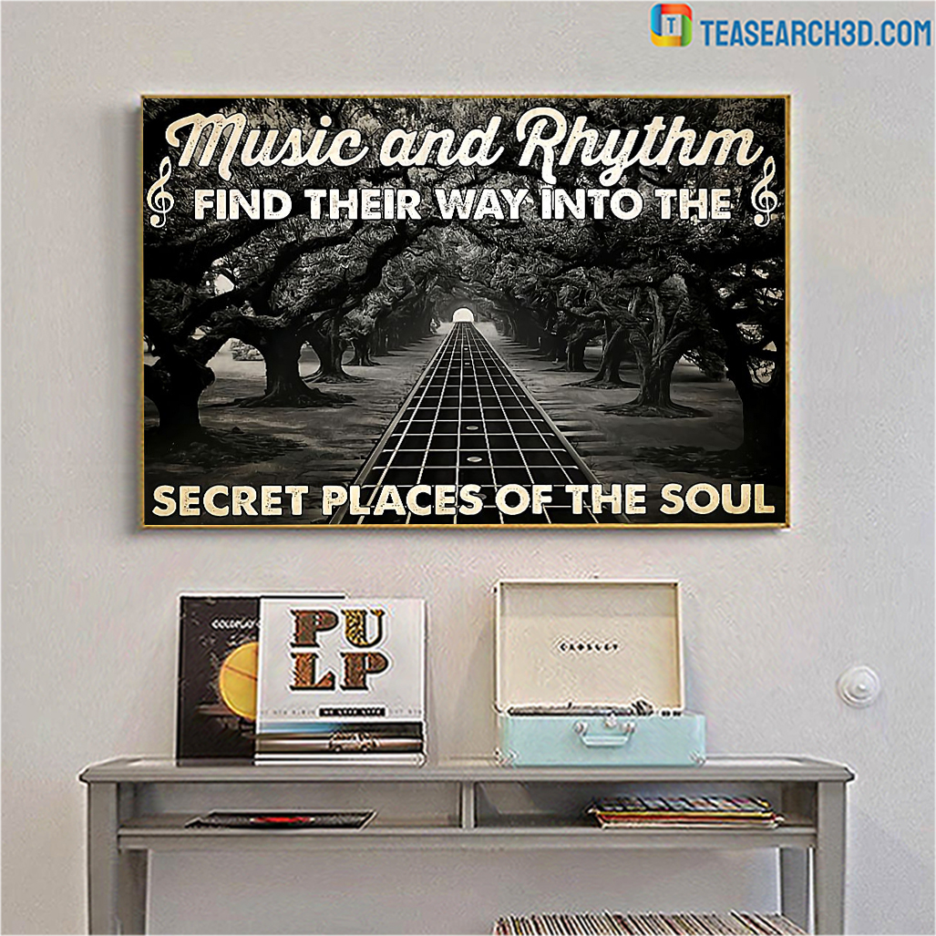Guitar music and rhythm find their way poster