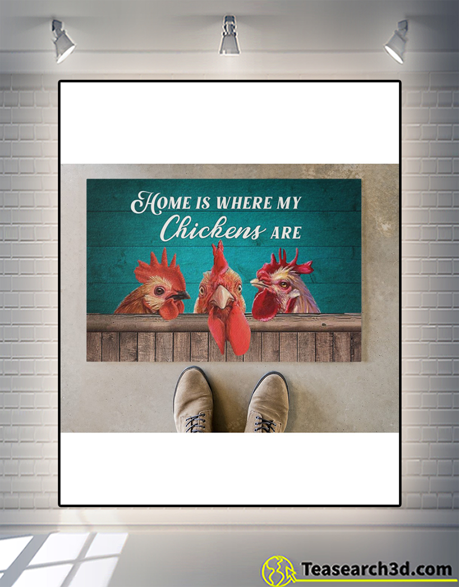 Home is where my chickens are doormat 2