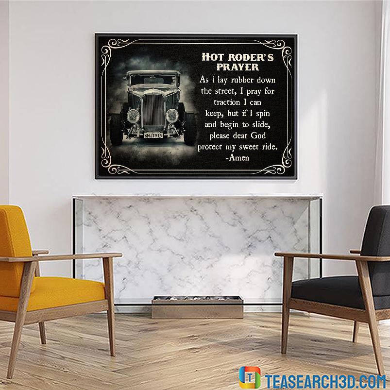 Hot roder's prayer poster A1