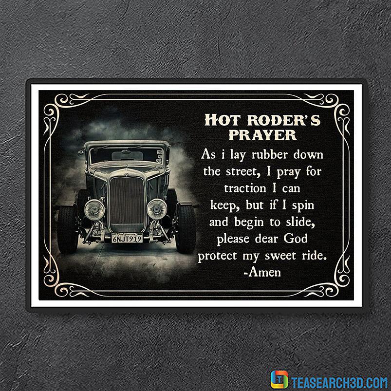 Hot roder's prayer poster A2