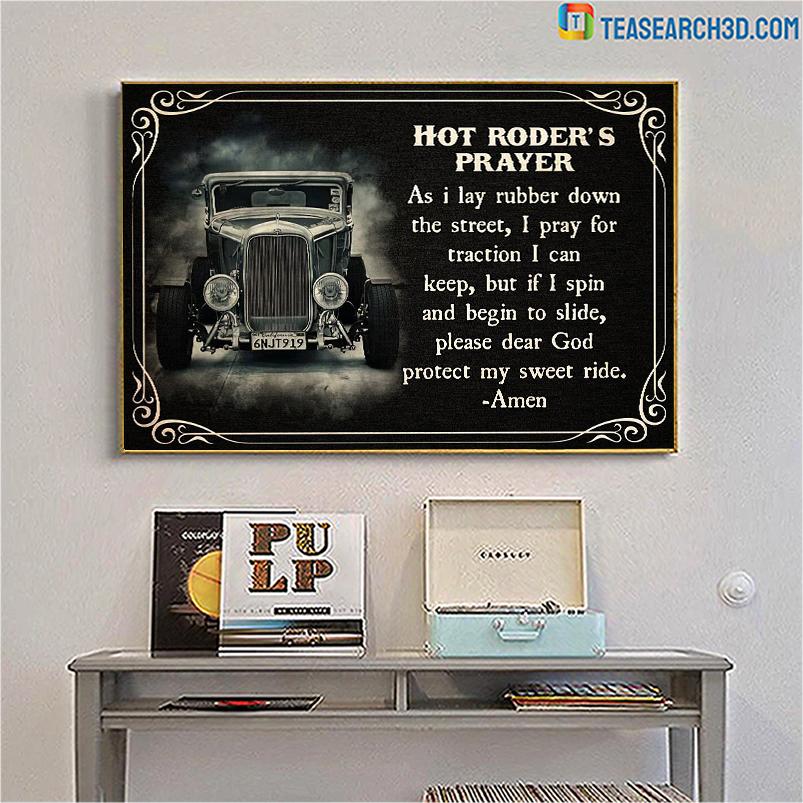 Hot roder's prayer poster A3