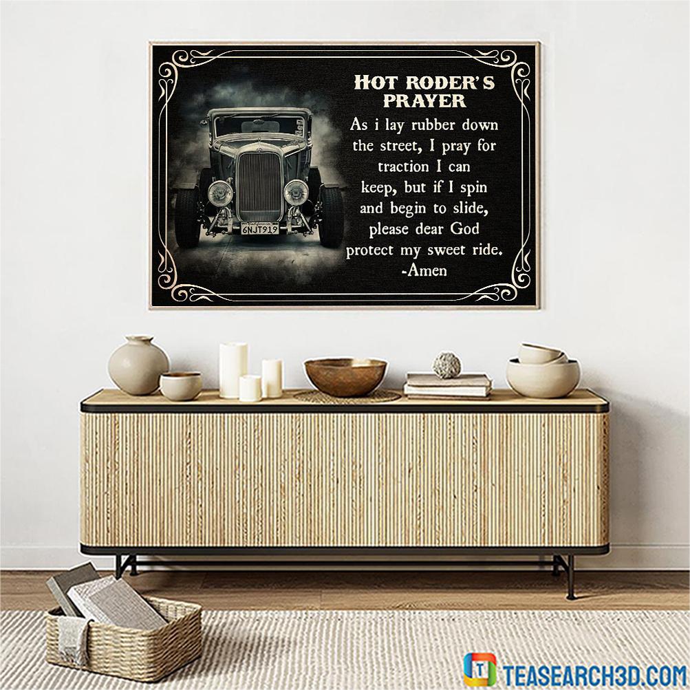 Hot roder's prayer poster