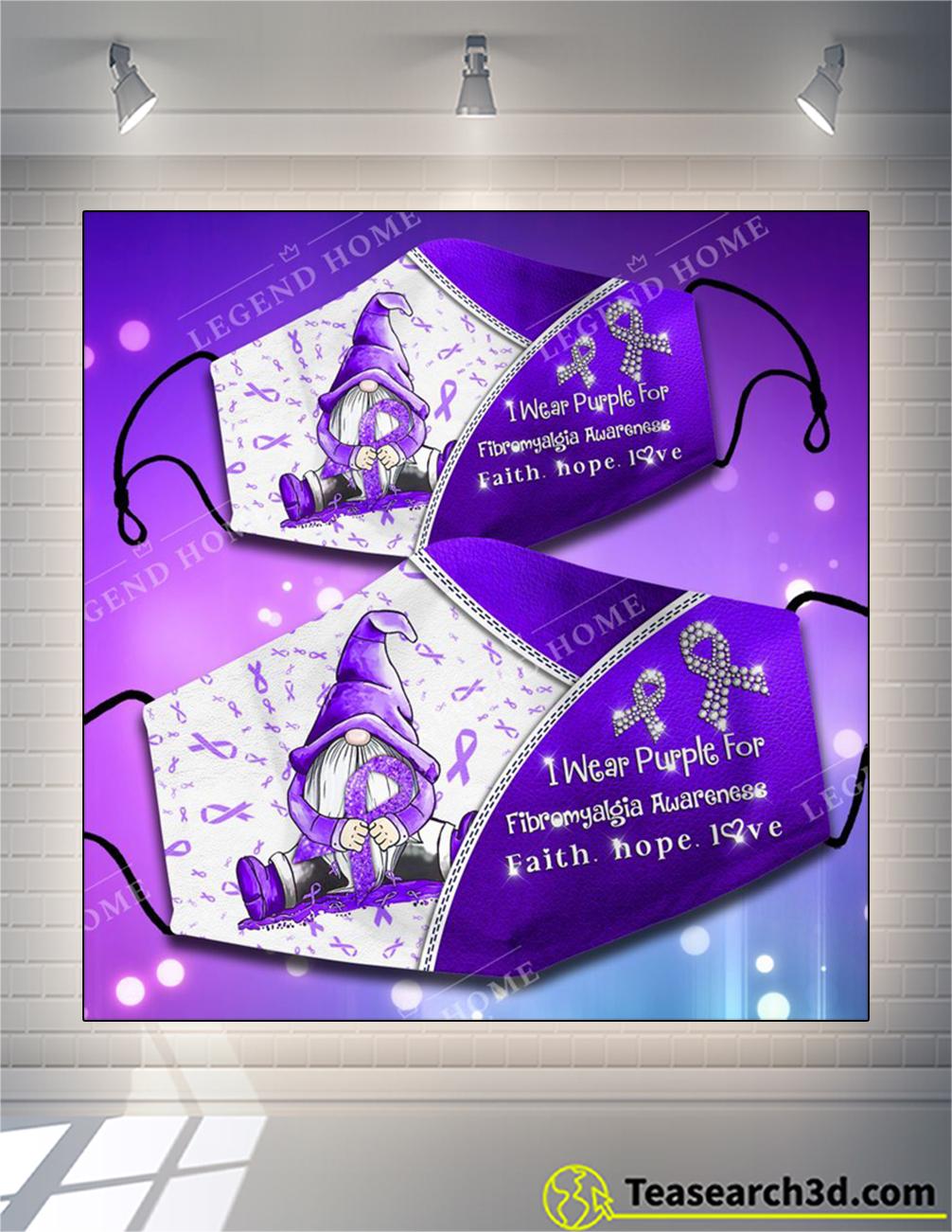 I wear purple for fibromyalgia awareness face mask