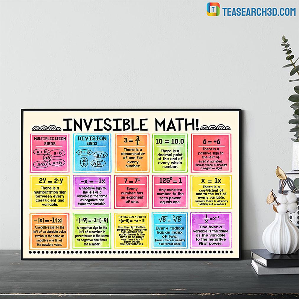 Invisible math horizontal poster