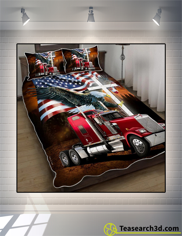 Jesus american eagle trucker quilt bed set 2