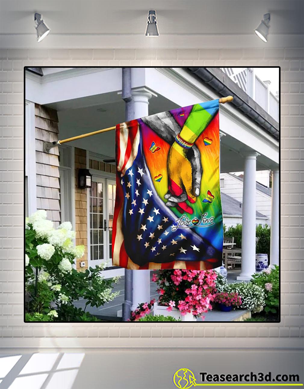 Lgbt pride love is love flag