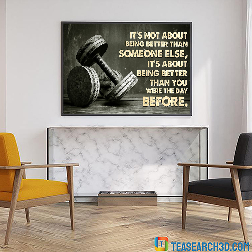 Lift weights it's not about being better than someone else poster A1
