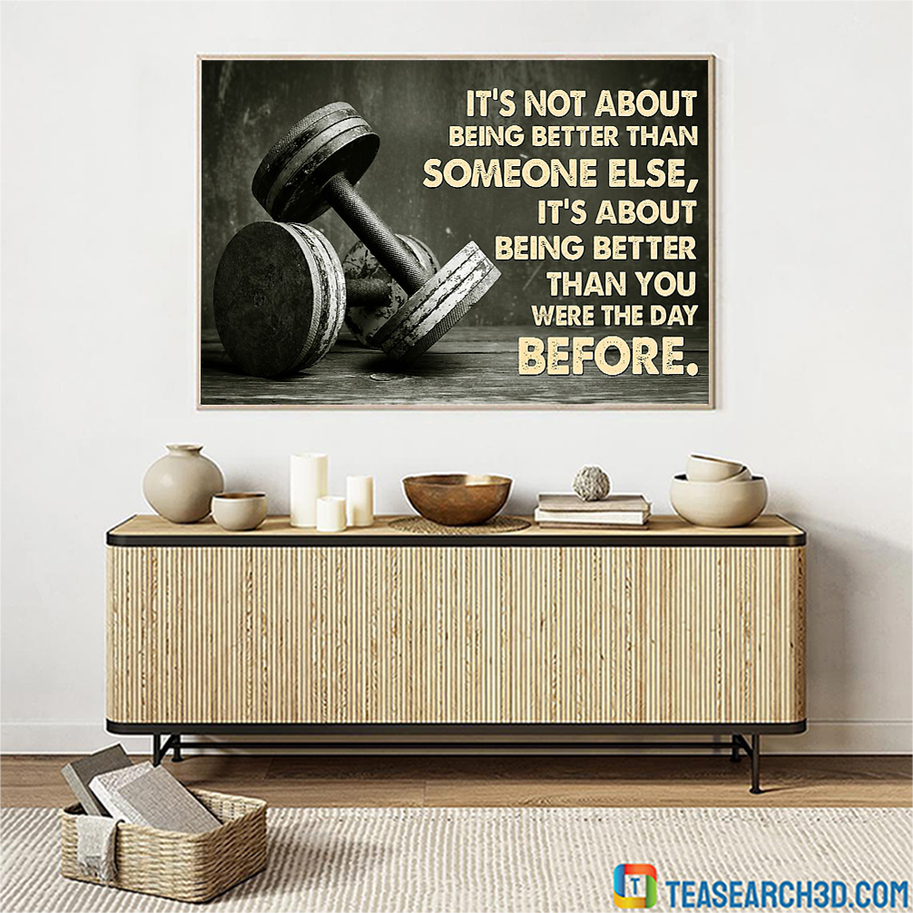 Lift weights it's not about being better than someone else poster