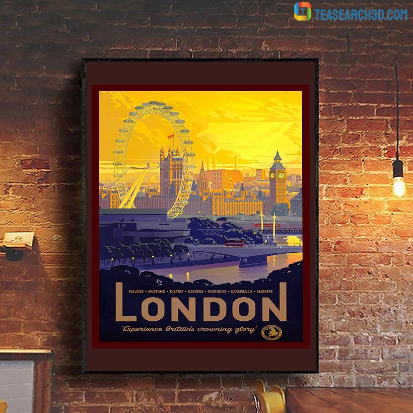 London travel vintage reprint poster A1
