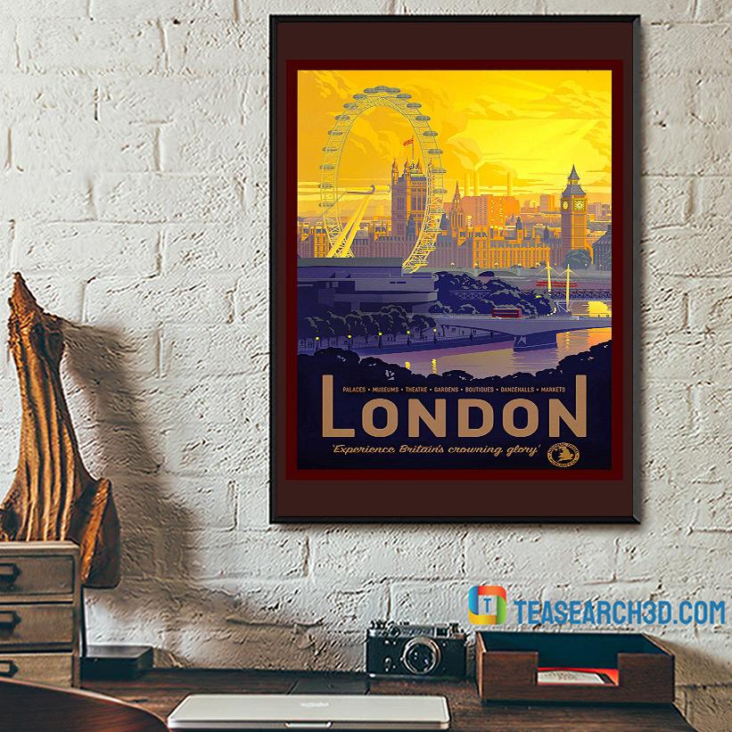 London travel vintage reprint poster A2