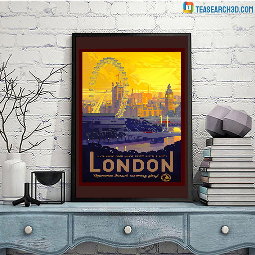 London travel vintage reprint poster A3