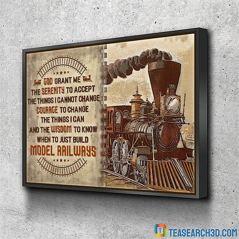 Model railroad serenity god grant me poster A1