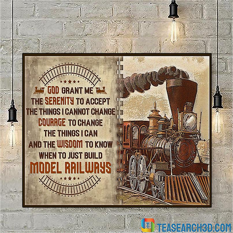 Model railroad serenity god grant me poster A2