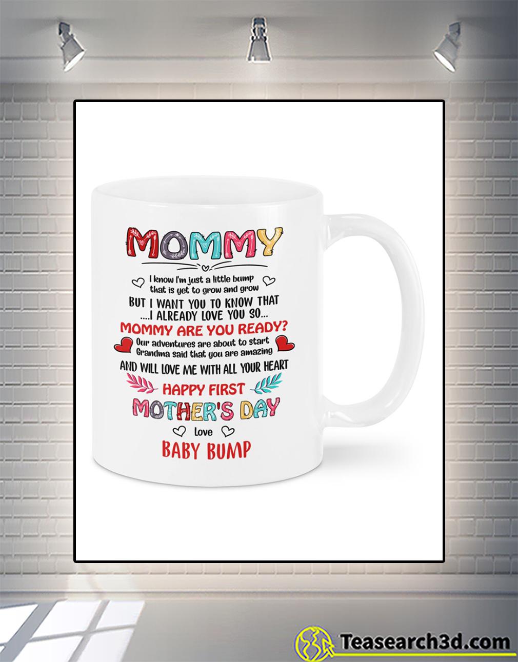 Mommy I love you baby bump mug