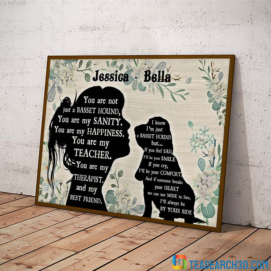 Personalized custom name You are not just a Basset hound poster A2
