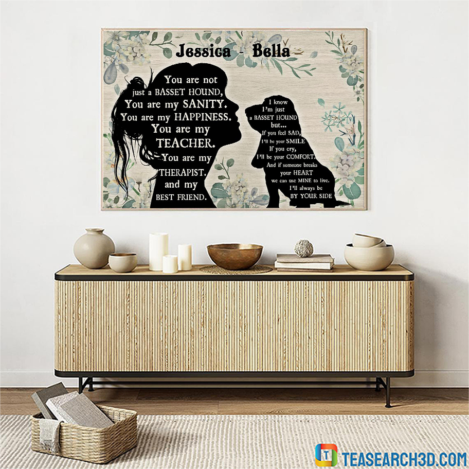 Personalized custom name You are not just a Basset hound poster A3
