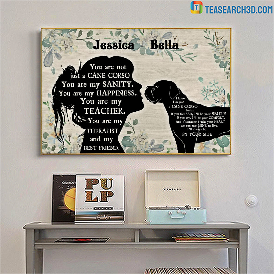 Personalized custom name You are not just a Cane Corso poster A1