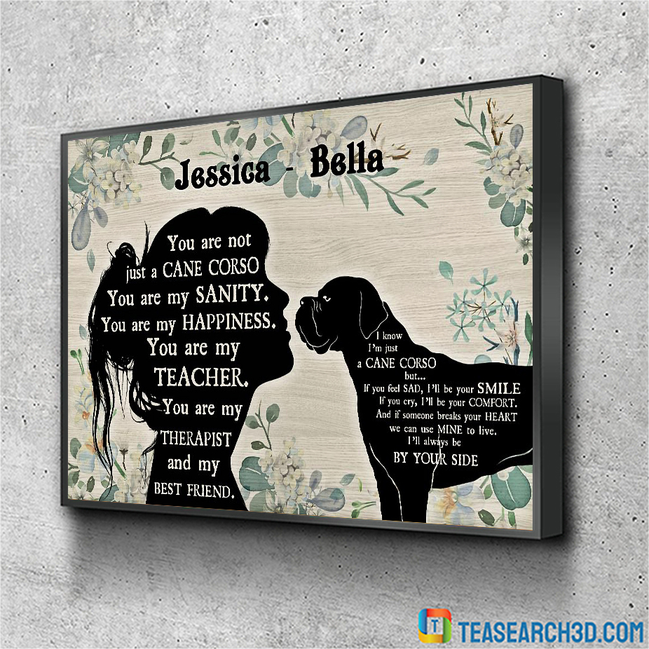 Personalized custom name You are not just a Cane Corso poster A2