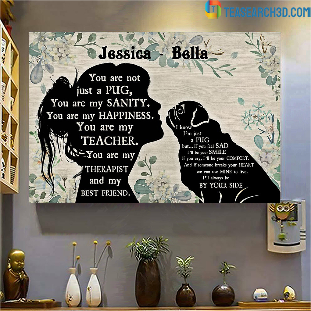 Personalized custom name You are not just a Pug poster