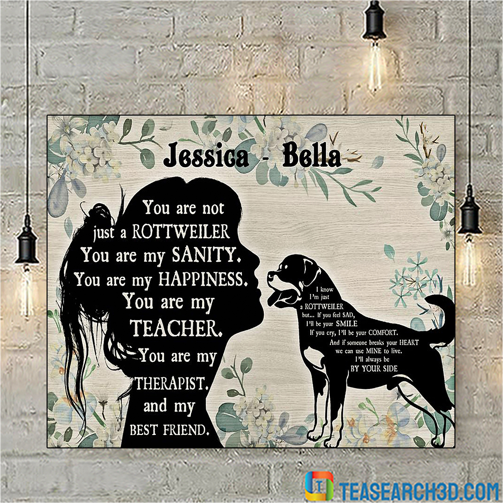 Personalized custom name You are not just a rottweiler poster