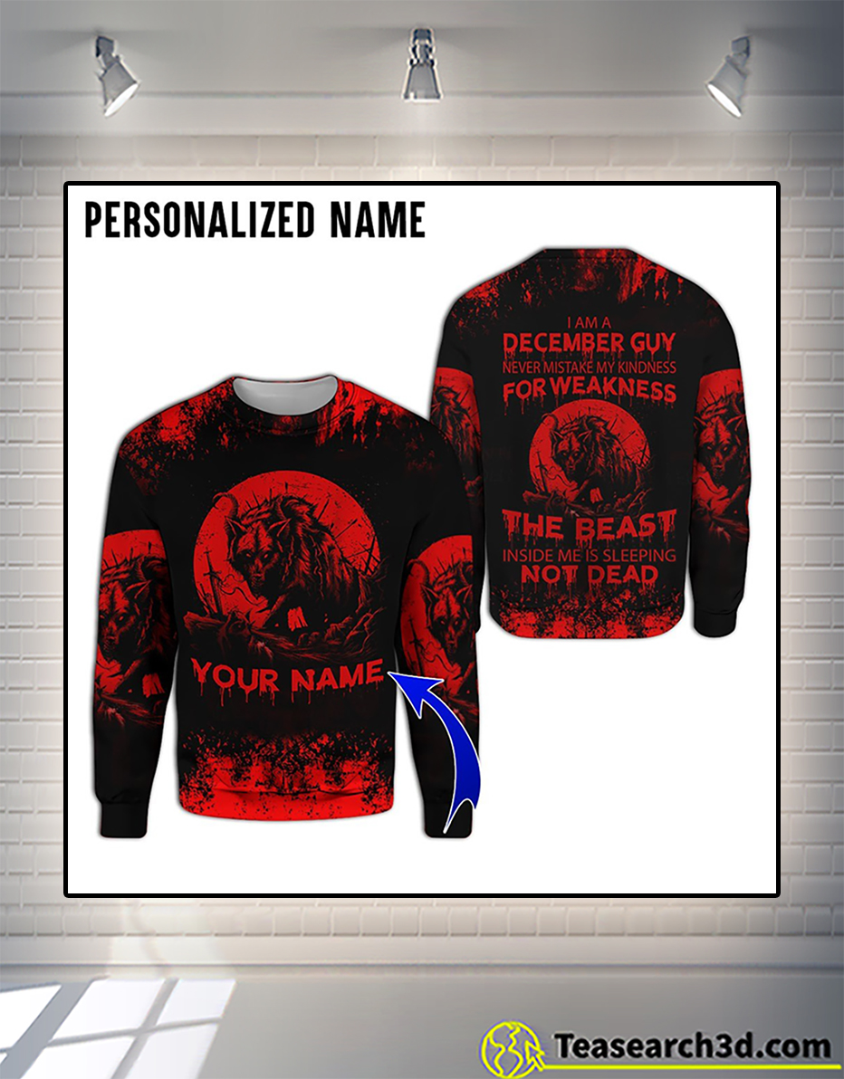 Personalized custom name december guy 3d all over printed sweatshirt
