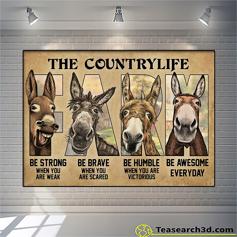 Personalized custom name donkey farm be strong poster A3