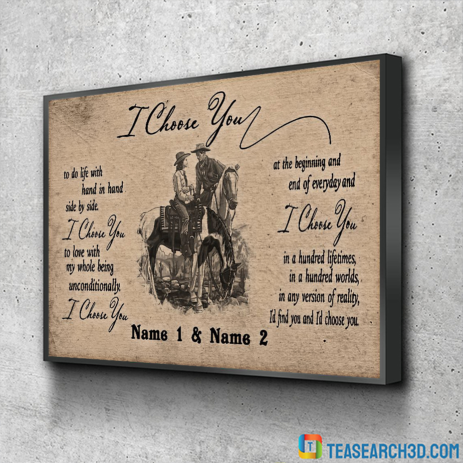 Personalized custom name horse I choose you poster A1