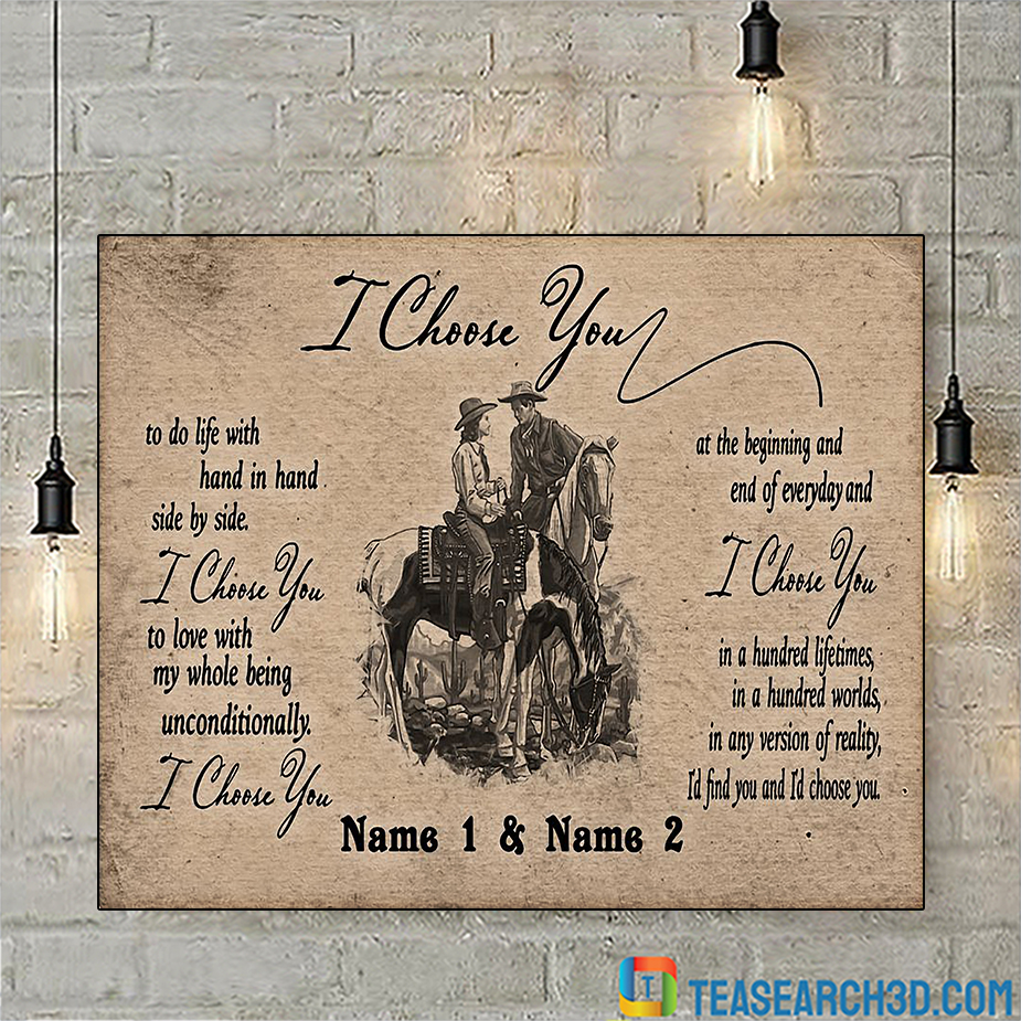 Personalized custom name horse I choose you poster A2