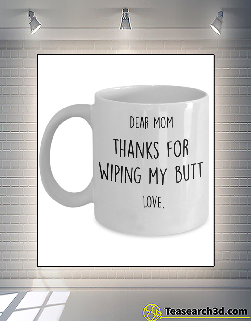 Personalized custom name thanks for wiping my butt mug 11oz