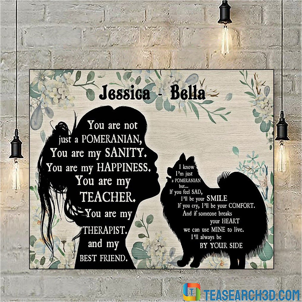 Personalized custom name you are not just a Pomeranian poster