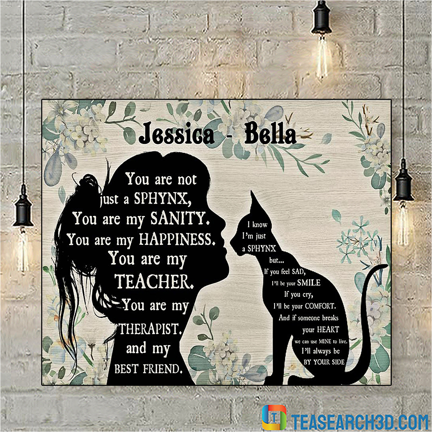 Personalized custom name you are not just a Sphynx poster A1