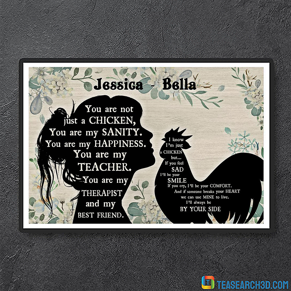 You are not just a chicken personalized custom name poster