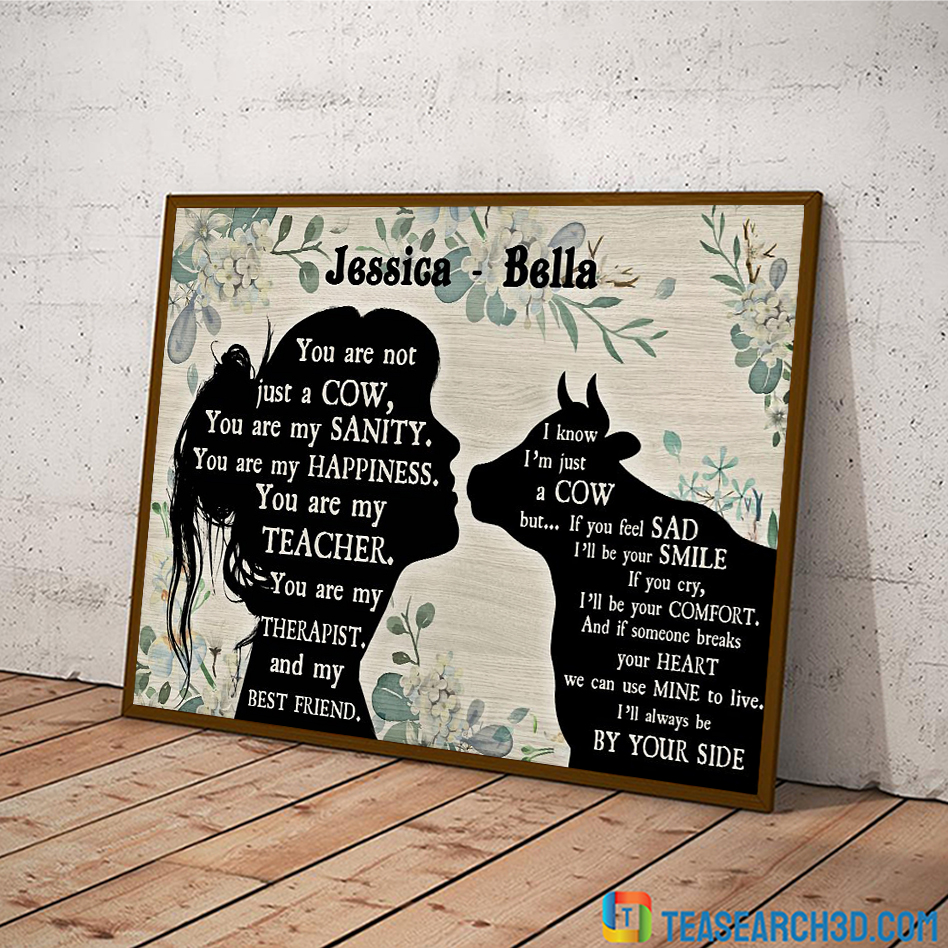 Personalized custom name you are not just a cow poster A3