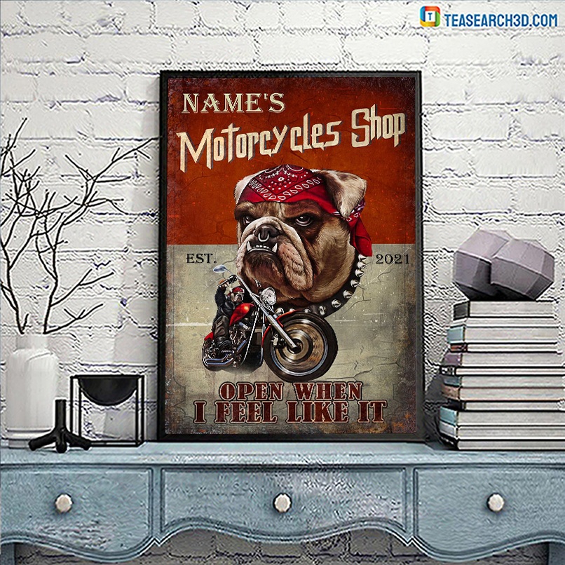 Personalized motorcycles shop open when I feel like it poster A3