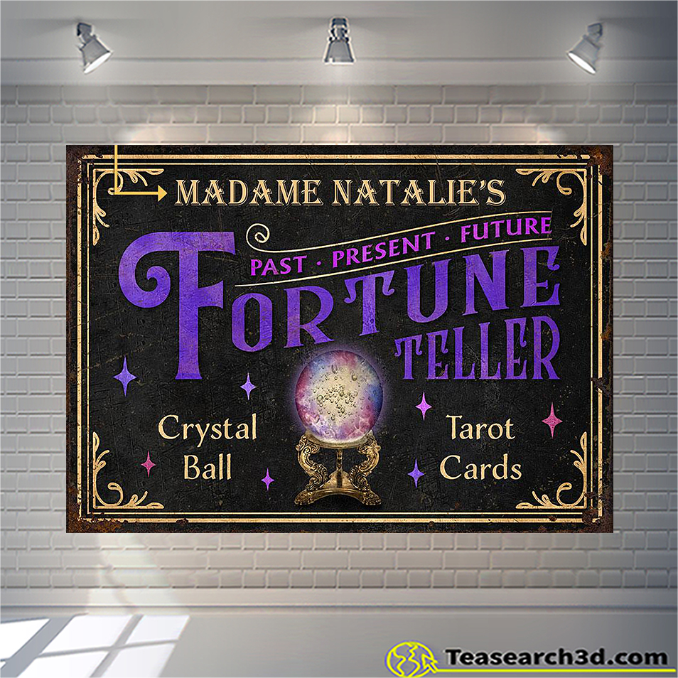 Personalized tarot fortune teller crystal ball customized poster A1