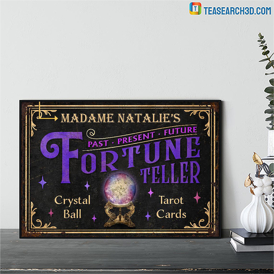 Personalized tarot fortune teller crystal ball customized poster A2