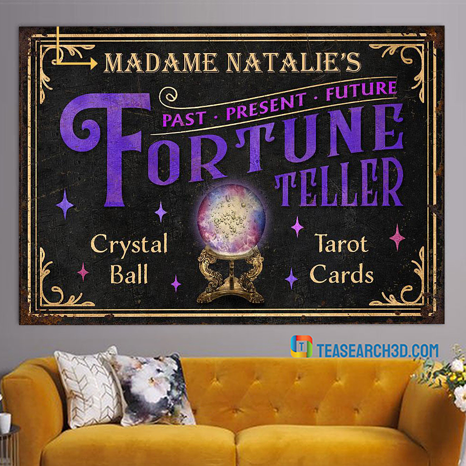 Personalized tarot fortune teller crystal ball customized poster A3