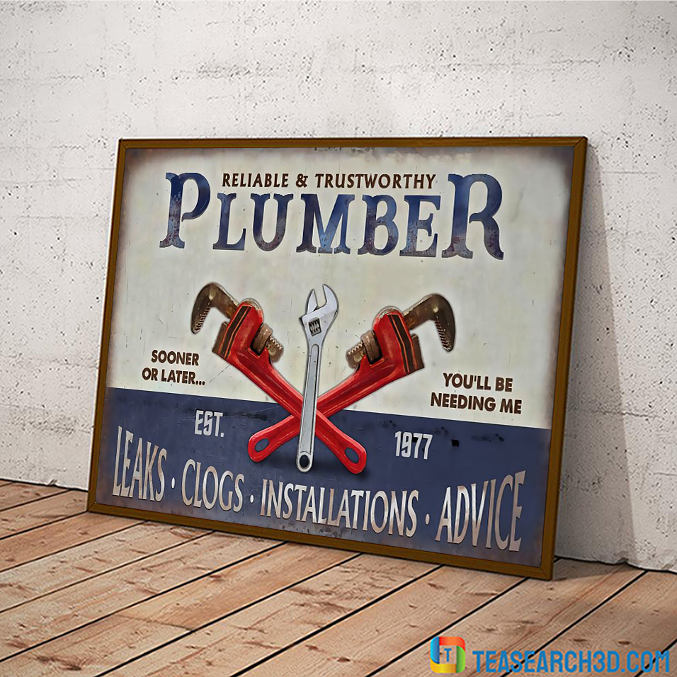 Plumbing reliable and trustworthy plumber poster A1